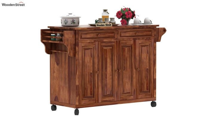 Elsa Kitchen Island (Teak Finish)-1
