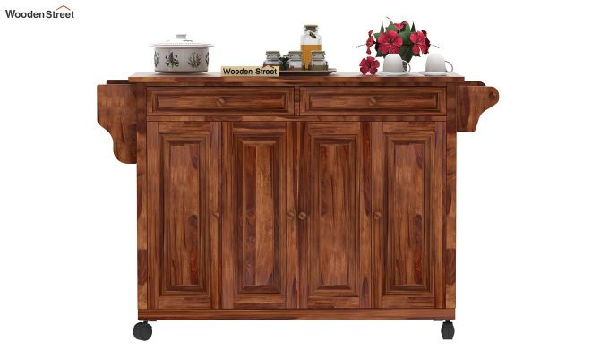 Elsa Kitchen Island (Teak Finish)-2