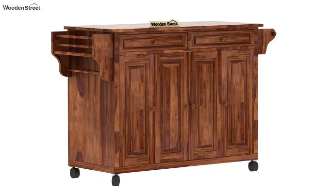 Elsa Kitchen Island (Teak Finish)-3