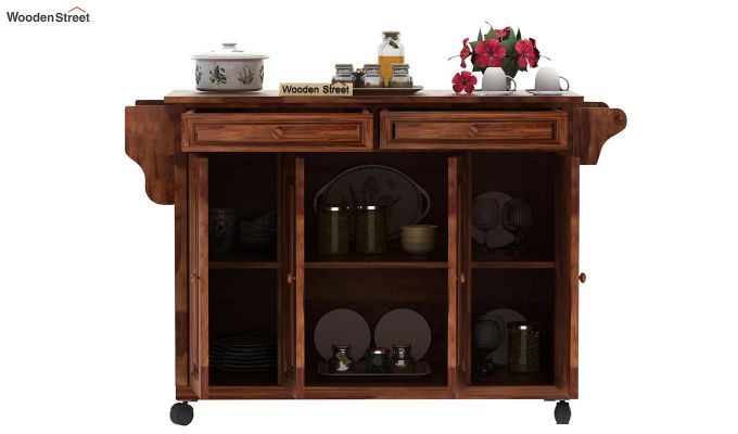 Elsa Kitchen Island (Teak Finish)-5