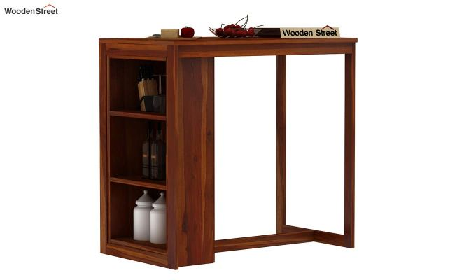 Leron Kitchen Island (Honey Finish)-2