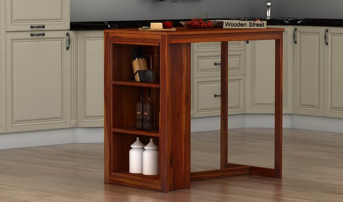 Leron Kitchen Island (Honey Finish)-1