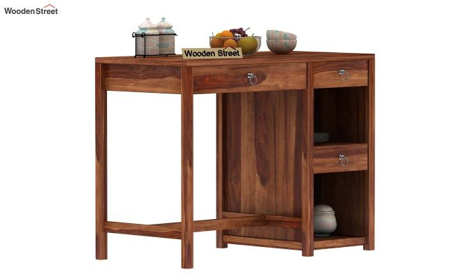 Renart Kitchen Island (Teak Finish)-2
