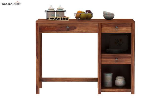 Renart Kitchen Island (Teak Finish)-3