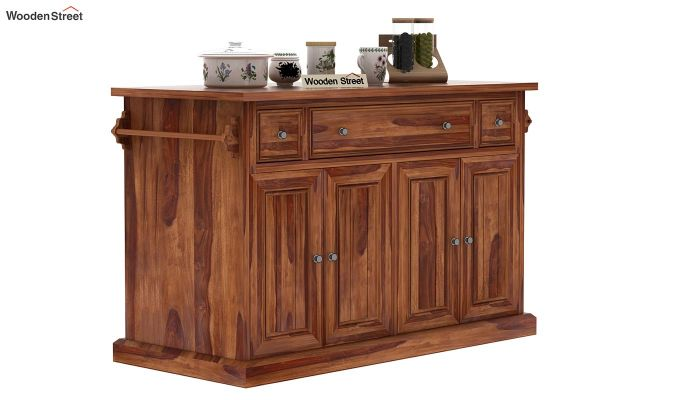 Tiana Kitchen Island (Teak Finish)-1
