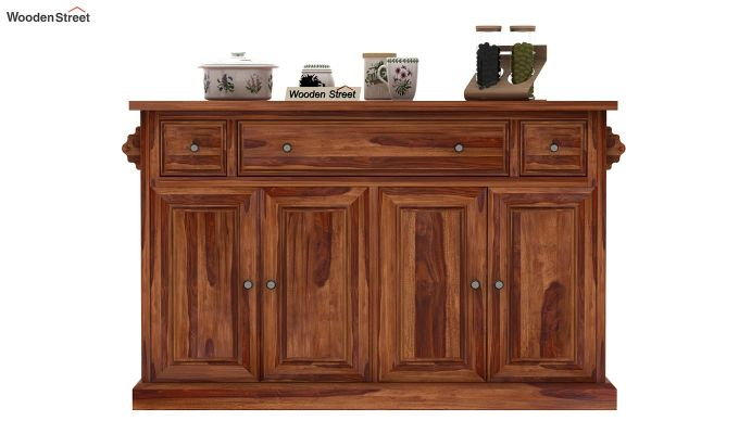 Tiana Kitchen Island (Teak Finish)-2