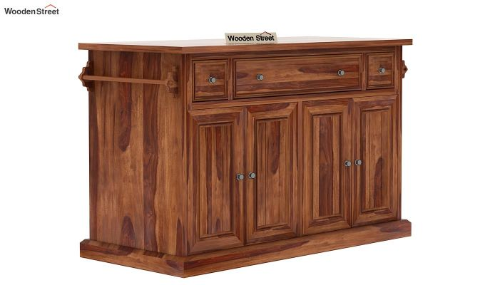 Tiana Kitchen Island (Teak Finish)-3