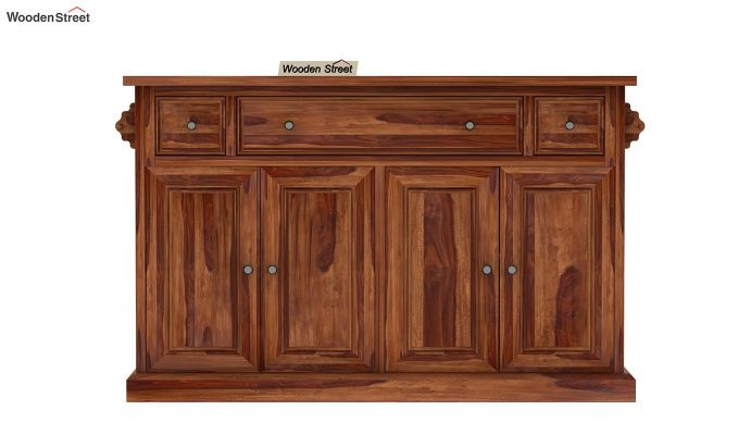 Tiana Kitchen Island (Teak Finish)-4