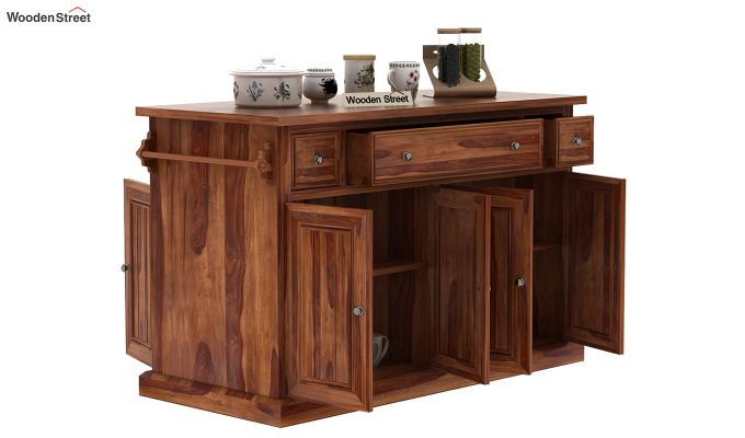 Tiana Kitchen Island (Teak Finish)-5