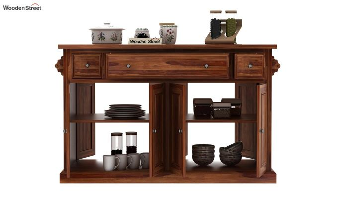 Tiana Kitchen Island (Teak Finish)-6