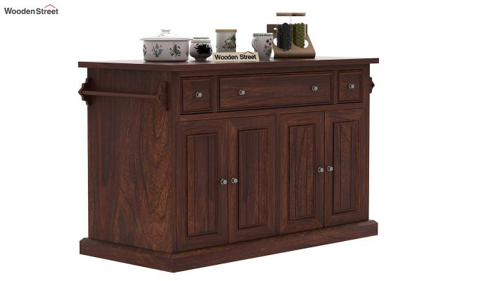 Tiana Kitchen Island (Walnut Finish)-2