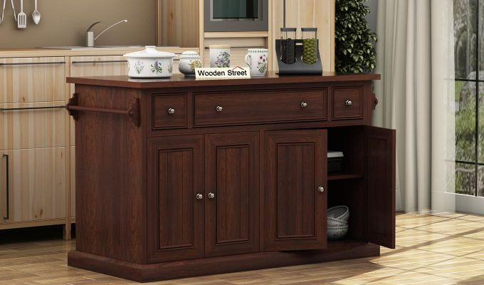 Tiana Kitchen Island (Walnut Finish)-1