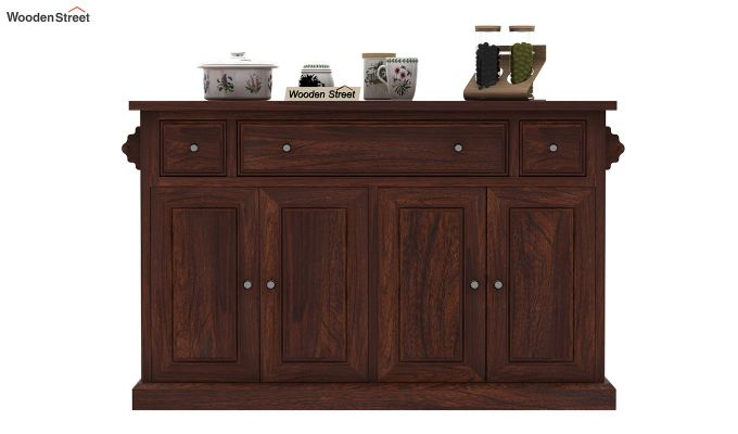 Tiana Kitchen Island (Walnut Finish)-3