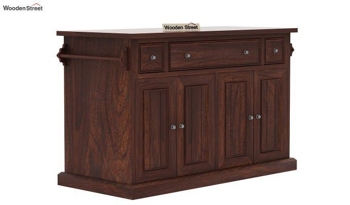 Tiana Kitchen Island (Walnut Finish)-4