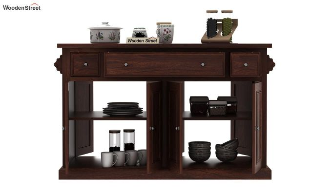 Tiana Kitchen Island (Walnut Finish)-7