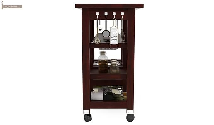 Kansis Kitchen Trolley (Mahogany Finish)-5