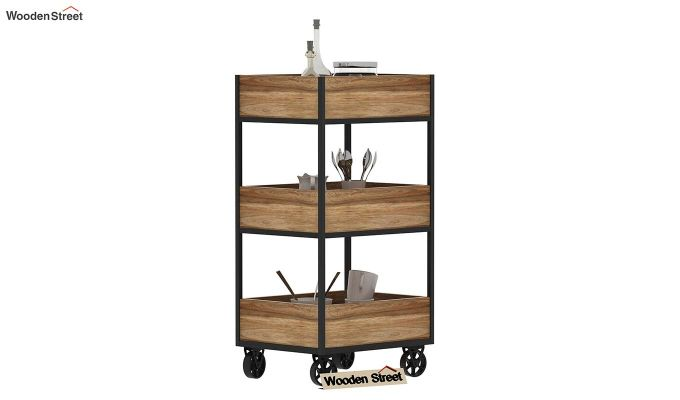 Neptuna Loft Kitchen Trolley (Natural Finish)-2