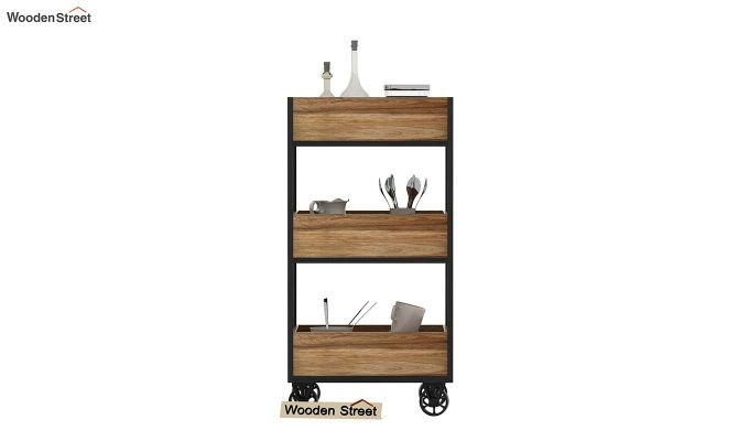 Neptuna Loft Kitchen Trolley (Natural Finish)-3