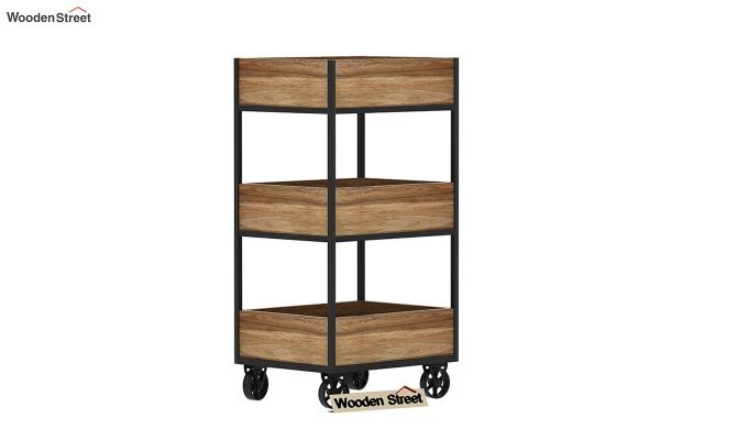 Neptuna Loft Kitchen Trolley (Natural Finish)-4