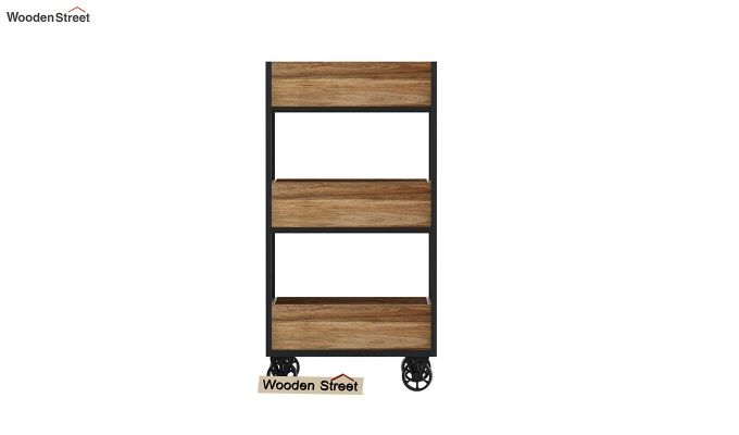 Neptuna Loft Kitchen Trolley (Natural Finish)-5