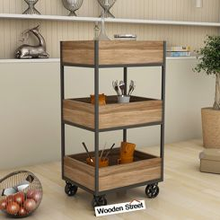Neptuna Loft Kitchen Trolley (Natural Finish)