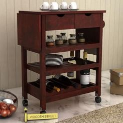 Sonic Kitchen Trolley (Mahogany Finish)