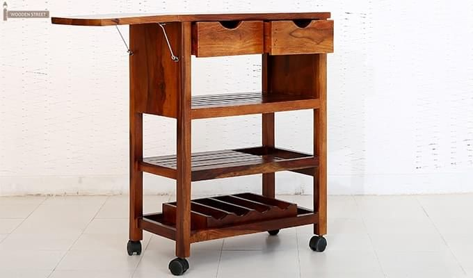 Sonic Kitchen Trolley (Honey Finish)-4