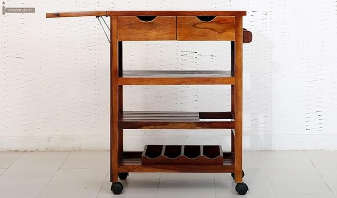 Sonic Kitchen Trolley (Honey Finish)-6