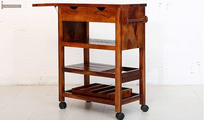 Sonic Kitchen Trolley (Honey Finish)-7