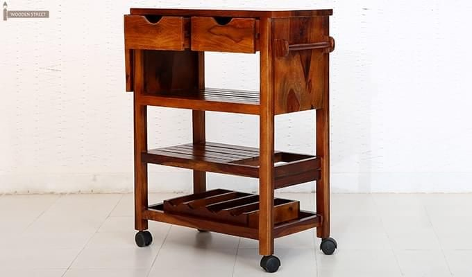 Sonic Kitchen Trolley (Honey Finish)-8