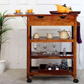 Buy Solid Wood Kitchen Furniture Online India at Best Price - Wooden ...