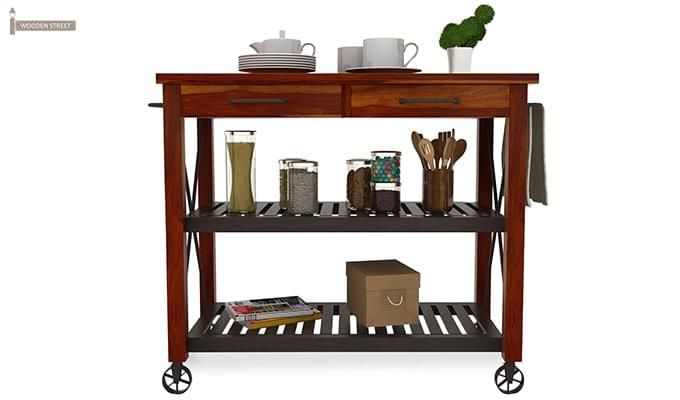 Toronto Kitchen Trolley (Honey Finish)-3