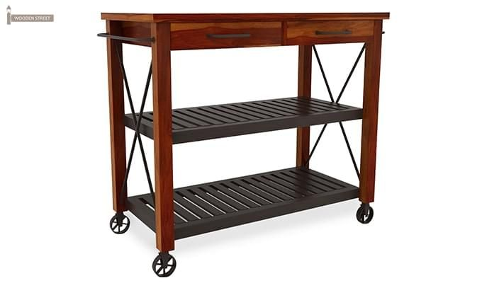 Toronto Kitchen Trolley (Honey Finish)-5