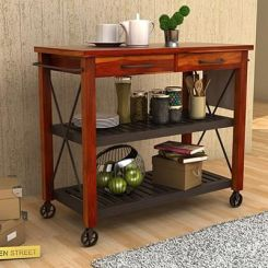 Toronto Kitchen Trolley (Honey Finish)