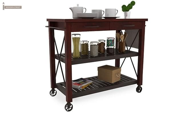Toronto Kitchen Trolley (Mahogany Finish)-2