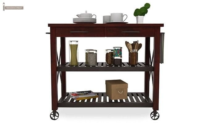 Toronto Kitchen Trolley (Mahogany Finish)-3