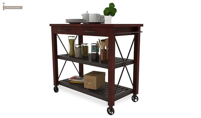 Toronto Kitchen Trolley (Mahogany Finish)-4
