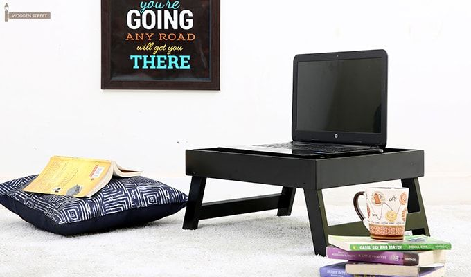 Abbey Laptop Table (Black)-1