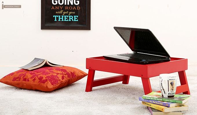 Abbey Laptop Table (Red)-1