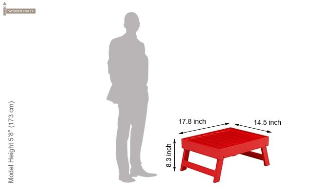 Abbey Laptop Table (Red)-5