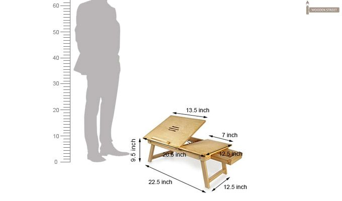 Lance Laptop Table (Natural Finish)-3