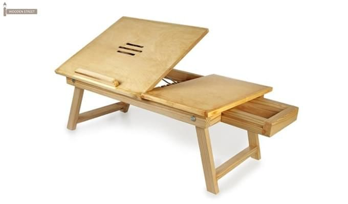 Lance Laptop Table (Natural Finish)-1