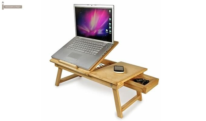 Lance Laptop Table (Natural Finish)-2