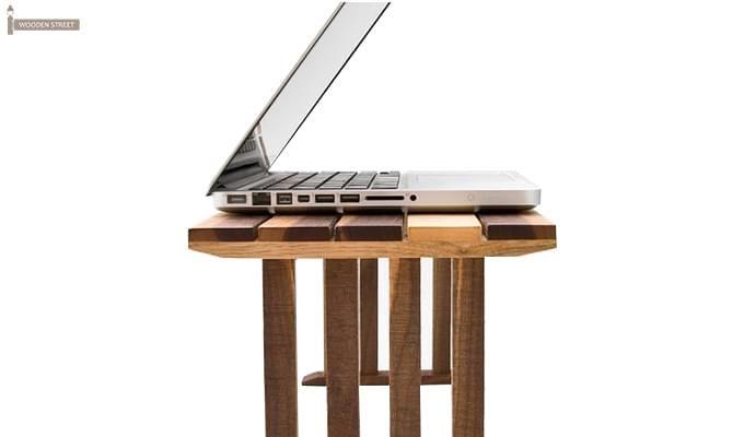 Makong Laptop Table (Teak Finish)-3