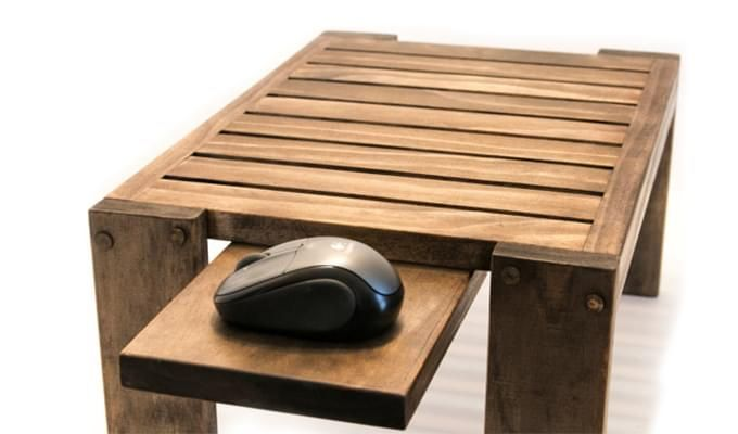 Salwox Laptop Table (Teak Finish)-2