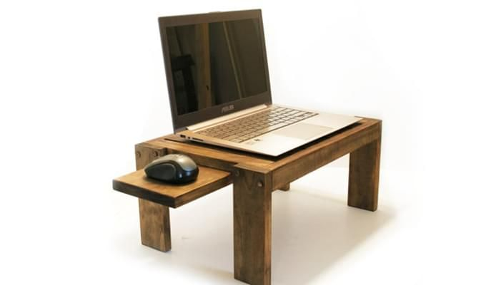 Salwox Laptop Table (Teak Finish)-3
