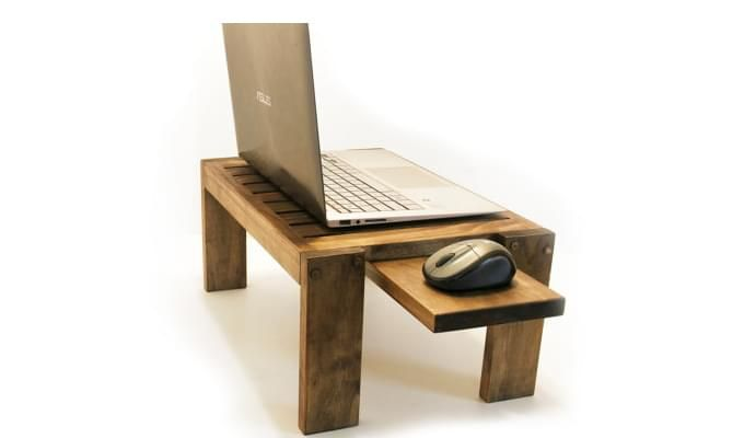 Salwox Laptop Table (Teak Finish)-4