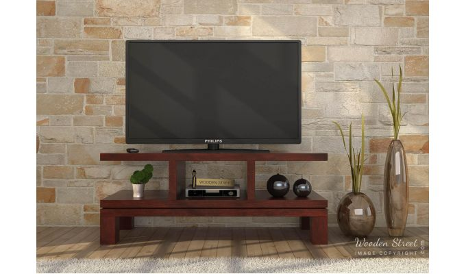 Cornish Tv Unit (Mahogany Finish)-2