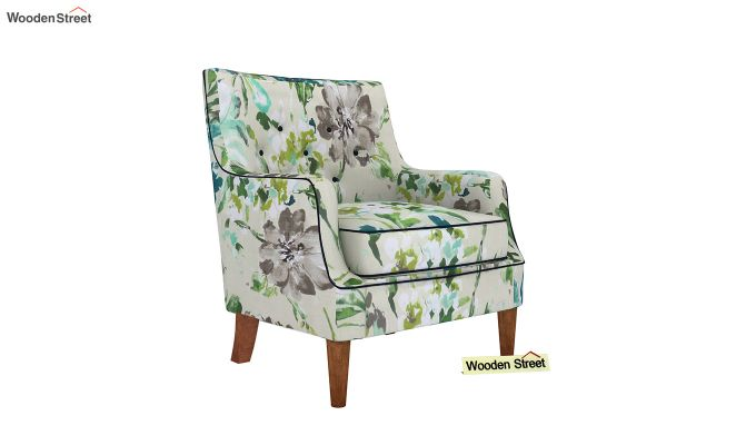 Adoree Arm Chair (Aqua Flower)-2