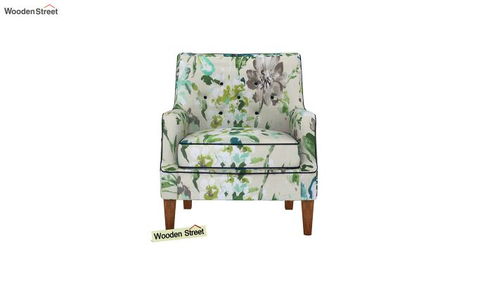 Adoree Arm Chair (Aqua Flower)-3